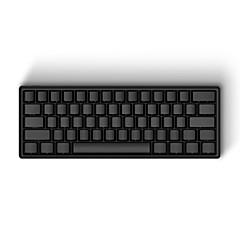 Iqunix® iqkb 62-Schlüssel 60% verdrahtete mechanische Tastatur mit Typ-c usb-Port Aluminium-Legierung Shell optional Cherry MX-Typen