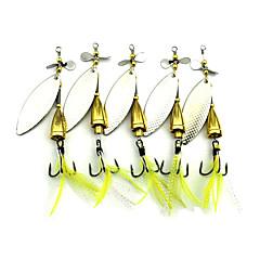 5 個 ハードベイト バズベイト&スピナーベイト スプーン メタルベイト グラム/オンス mm インチ 海釣り 鯉釣り バス釣り ルアー釣り 流し釣り/船釣り