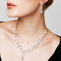 Žene Komplet nakita Naušnica Pramenove Ogrlice Moda Elegantno kostim nakit Kubični Zirconia Umjetno drago kamenje Glina Imitacija