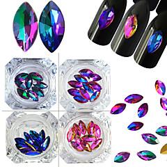 4 Nail Art Decoration tekojalokivi Pearls meikki Kosmeettiset Nail Art Design