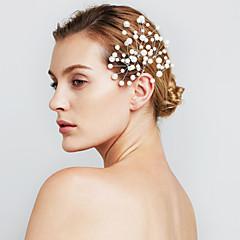 naisten helmi kukka hiukset korut hiusneulat hääjuhlissa (6 kpl)