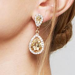 Femme Boucles d'oreille goutte Boucles d'Oreille Mode Elegant Mariée Adorable bijoux de fantaisie Zircon Imitation Diamant Alliage Goutte