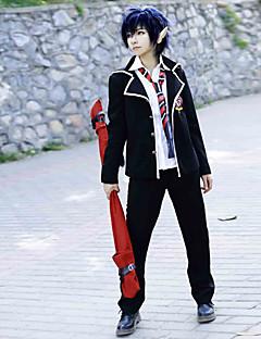 Inspirirana Blue Exorcist Rin Okumura Anime Cosplay nošnje Cosplay Suits School Uniforms Jednobojni Dugih rukava Kaput Shirt Hlače Kravata