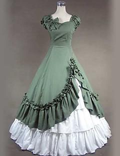 Yksiosainen/Mekot Gothic Lolita Viktoriaaninen Cosplay Lolita-mekot Vintage Perhonen Lyhythihainen Pitkä Pituus Hame Leninki Petticoat
