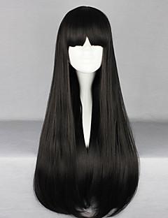 Lolita Wigs Gothic Lolita Černá Lolita Lolita Paruky 70 CM Cosplay Paruky Jednobarevné Paruka Pro