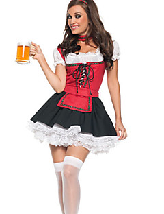 Oktoberfest Pivo Girl šněrovací top Maid Uniform