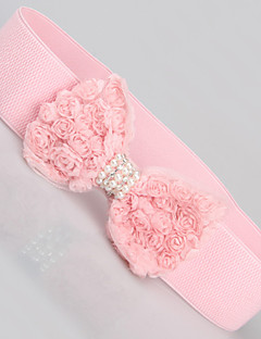 Women Chiffon Waist Belt,Cute Pearl