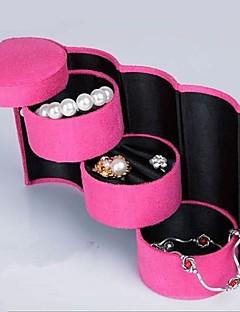Filt trelags Cylinder smykker boks smykker bokser, kosmetikk bokser