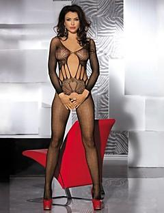 Ultra Sexy Vêtement de nuit Femme Couleur Pleine Nylon Noir Aux femmes