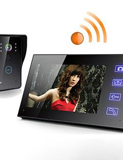 Fără fir 7 inchi lcd ecran tactil telefon interfon video ușa ușă acasă de securitate camera monitor
