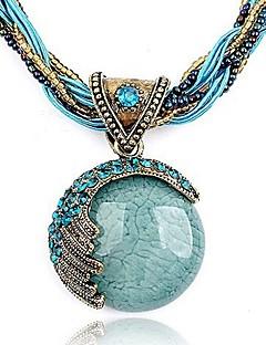 Dame Anheng Halskjede Armbånd Rund Form Krystall Strass Mote Europeisk Bohem Stil Personalisert kostyme smykker Smykker Til Fest Bursdag