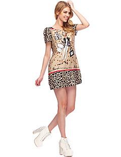 SouthStoreA Naisten 2013 Speing kesällä uusi tyyli Modern koruompelu Sama kuin Fan Bingbing Cartoon Tulosta Round Collar Dress
