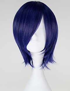 Perucas de Cosplay Tokyo Ghoul Kirishima Touka Azul Curto Anime Perucas de Cosplay 32 CM Fibra Resistente ao Calor Feminino