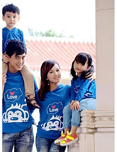Family's Fashion Joker Leisure Parent Child Cute Monkey Long Sleeve T Shirt