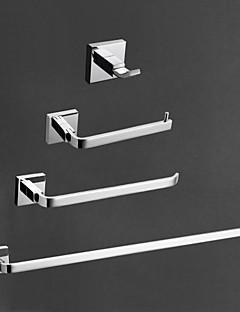 Tilbehørssæt til badeværelset / KromMessing /Moderne