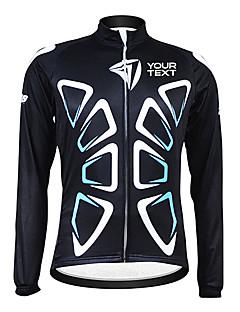 Kooplus Cyklo bunda Dámské Pánské Unisex Dlouhé rukávy Jezdit na kole DresZahřívací Větruvzdorné Zateplená podšívka Voděodolný zip