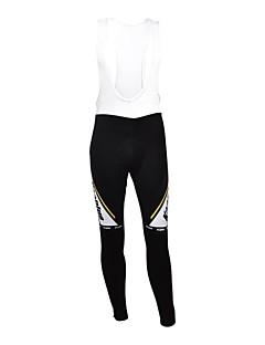 Kooplus טייץ ביב לרכיבה לנשים לגברים יוניסקס אופניים גרביונים ביב נושם שמור על חום הגוף רוכסן עמיד למים לביש רצועות מחזירי אורפוליאסטר