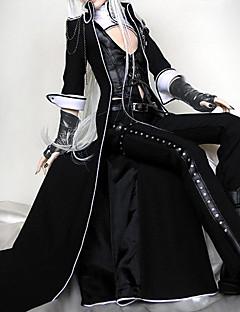 Asut Punk Lolita Lolita Cosplay Lolita-mekot Musta Yhtenäinen Runoilija Lolita Päälystakki Liivi Pants Glove varten Nahka Univormukangas