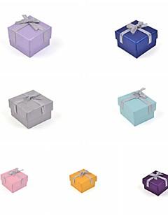 리본 나비 종이 반지 상자