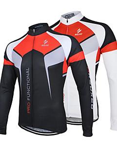 Arsuxeo Camisa para Ciclismo Homens Manga Longa Moto Camisa/Roupas Para Esporte Jaqueta Blusas Secagem Rápida Design Anatômico Zíper