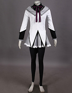 Inspireret af Puella Magi Madoka Magica Homura Akemi video Spil Cosplay Kostumer Cosplay Kostumer PatchworkBluse Top Nederdel Bukser