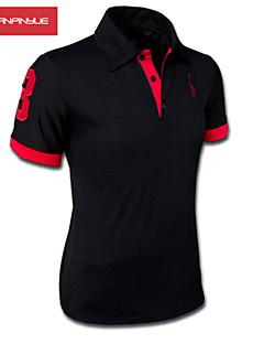 MANWAN WALK®Men's Embroidery Chest Logo Short Sleeve Slim Polo T-Shirt