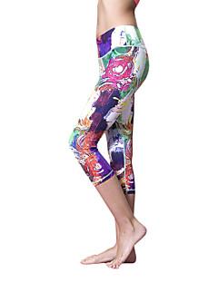 Queen Yoga Dámské Koşu Taytları Rychleschnoucí Lehké materiály 3/4 Tights Kalhoty Spodní část oděvu pro Jóga Pilates Fitness Bavlna
