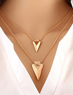 Γυναικεία πολυεπίπεδη Κολιέ Triangle Shape Κράμα Βασικό Μοντέρνα Εξατομικευόμενο Ευρωπαϊκό κοστούμι κοστουμιών Κοσμήματα Για Ειδική