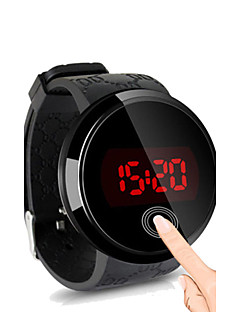 Herren Armbanduhr digital LED Touchscreen Wasserdicht Silikon Band Schwarz