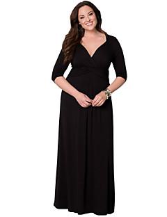 שמלה - מקסי - פוליאסטר - מידות גדולות / מקסי - בלי בטנה