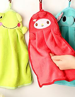 VaskehåndklædeSolid Høj kvalitet 100% Koral Fleece Håndklæde