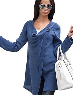 Women's Solid Blue / Beige / Black / Gray Wrap , Cowl Long Sleeve