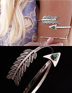 תכשיטי גוף צמיד זרוע עיצוב מיוחד אופנתי תכשיטים נוצה טַוָס כסף תכשיטים Christmas Gifts 1pc