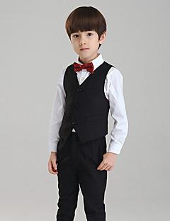 Хлопок Детский праздничный костюм - 4 Куски Включает в себя Брюки Жилет Рубашка Бабочка
