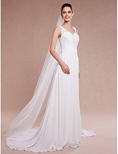 Véus de Noiva Uma Camada Véu Capela Corte da borda 78,74 in (200 cm) Tule Branco Marfim