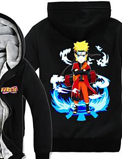 Innoittamana Naruto Naruto Uzumaki Anime Cosplay-asut Cosplay hupparit Painettu Pitkähihainen Toppi Käyttötarkoitus Miehet