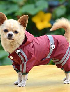 Köpek Yağmur Paltoları Köpek Giyimi Su Geçirmez Tek Renk Sarı Kırmzı Yeşil