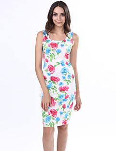 Sukienka - Obuwie damskie - Bez pleców - Do kolan - Bez rękawów - Głęboki dekolt U