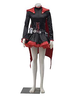 Inspiré par RWBY Ruby Manga Costumes de Cosplay Costumes Cosplay Couleur Pleine Manches Longues Robe Pour Féminin