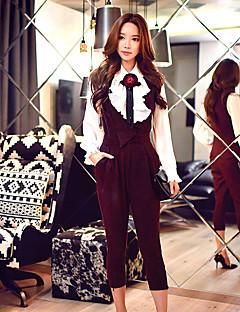 sólidas calças Slim dabuwawa mulheres, vintage / street chique / sofisticado