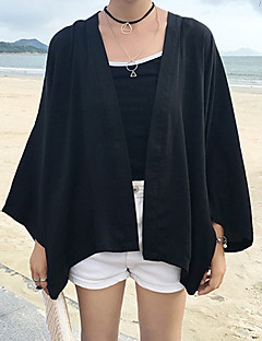 Women's Casual/Daily Simple Summer Cloak/Capes,Solid Long Sleeve Polyester