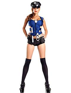 Cosplay Kostuums Feestkostuum Politie carrière Kostuums Festival/Feestdagen Halloweenkostuums blauw EffenHemd Kleding Sokken Meer
