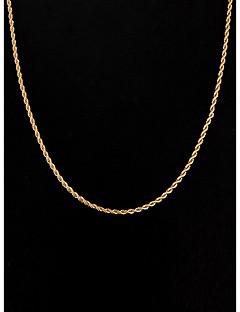 Mulheres Colares em Corrente Jóias Prata Chapeada Chapeado Dourado Estilo simples bijuterias Jóias Para Casamento Festa Diário Casual