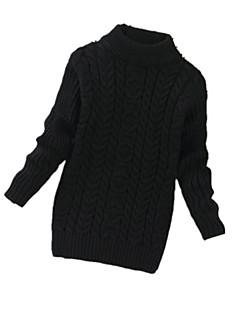 女の子の カジュアル/普段着 ゼブラプリント ウール,セーター&カーデガン 冬 ブラック / ピンク / ホワイト / イエロー