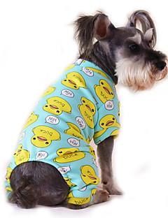 Kediler Köpekler Tulumlar Pijamalar Köpek Giyimi Kış İlkbahar/Kış Karton Sevimli Günlük/Sade Sarı Kırmzı Mavi Pembe Mavi-Sarı