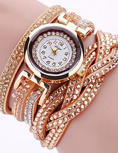 לנשים שעוני אופנה שעון יד שעון צמיד קווארץ פאנק צבעוני חיקוי יהלום PU להקה וינטאג' מדבקות עם נצנצים מגדל אייפל בוהמי מזל מגניב יום יומי