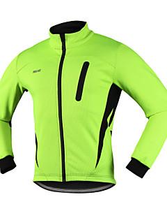 Arsuxeo Cyklo bunda Pánské Jezdit na kole Zimní bunda Vrchní část oděvu Zahřívací Větruvzdorné Anatomický design Voděodolný zip Prodyšné