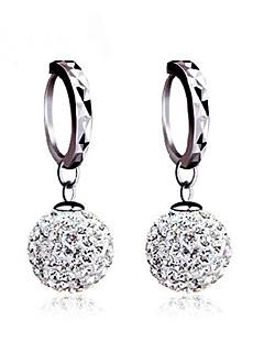 Damen Ohrstecker Kugel-Ohrringe Ohrring Basis Klassisch Sterling Silber Kubikzirkonia Diamantimitate Kugel Schmuck Für Hochzeit Party