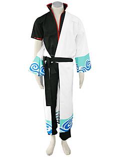 Inspiré par Gintama Cosplay Manga Costumes de Cosplay Costumes Cosplay Couleur Pleine Manteau Pantalon Ceinture Veste Kimono Pour Masculin