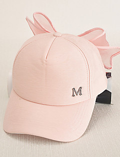 kvinners mote søt bomull baseball cap solhatt søt bowknot lappeteppe uformell ferie sommer alle årstider rosa / svart